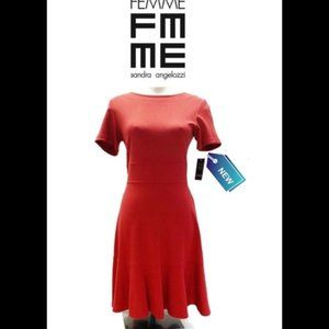FEMME De Carriere Red fit and flare Dress …
